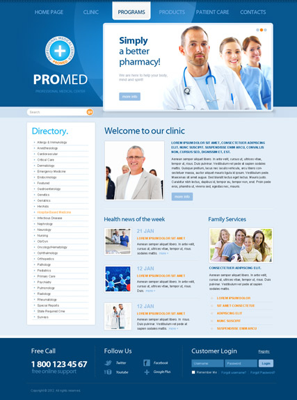 ProMed v2.5 web template