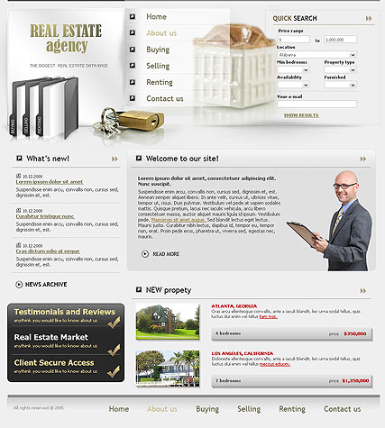 Properties web template