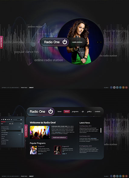 Radio One web template