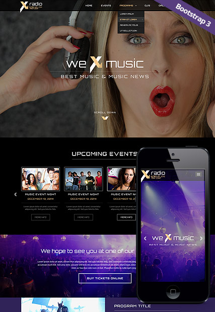 Radio Station web template