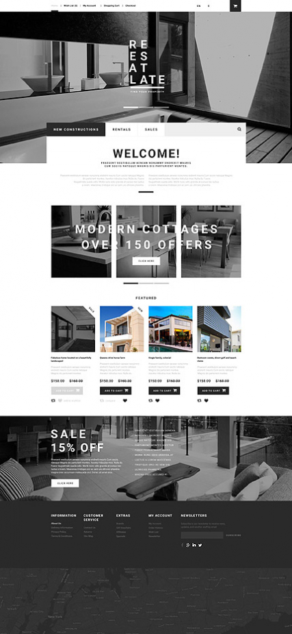 Real Estate OpenCart Template