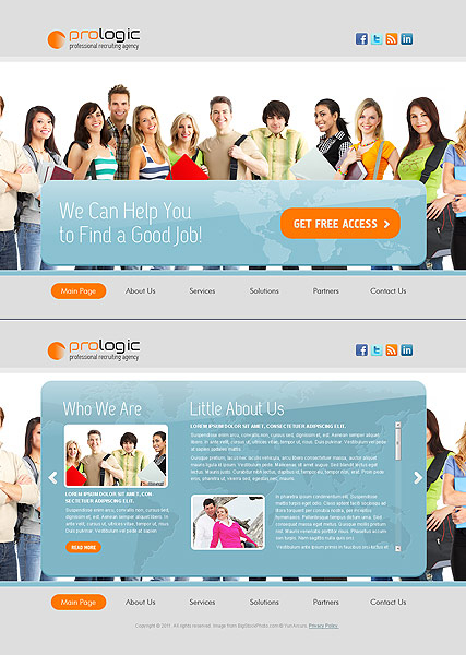 Recruiting Agency web template