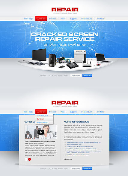 Repair Computer web template