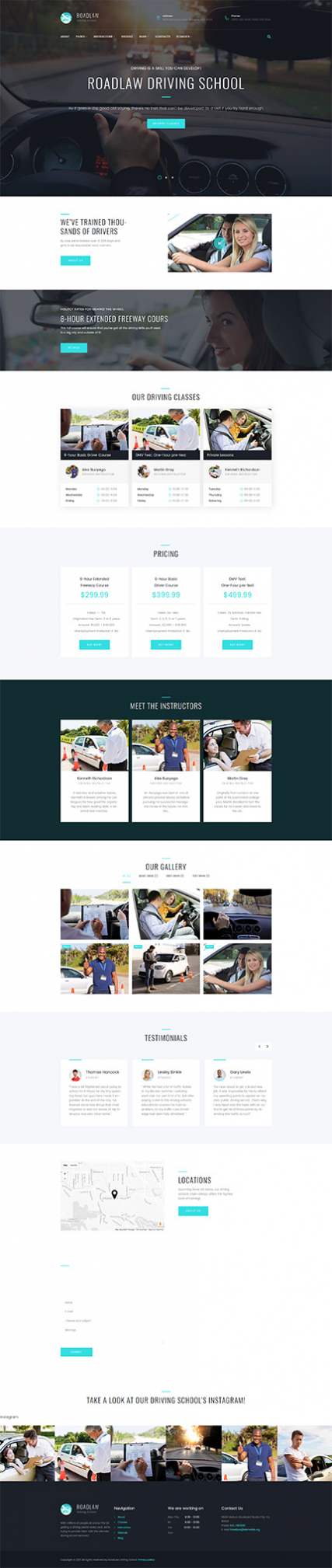 RoadLaw - Driving School Responsive WordPress Theme WordPress Theme