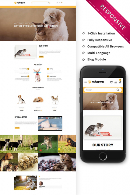 Rshawn - The Pet Shop Responsive OpenCart Template