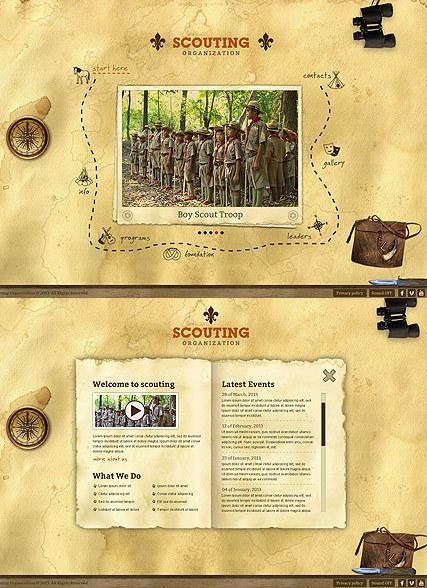 Scouting web template