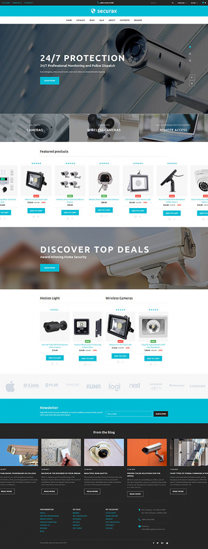 Securax - Security Equipment Store Responsive OpenCart Template