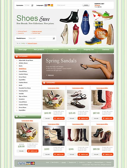 Shoes Store web template