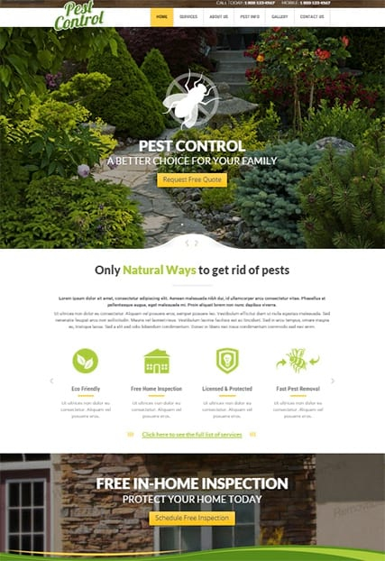 Pest control web template