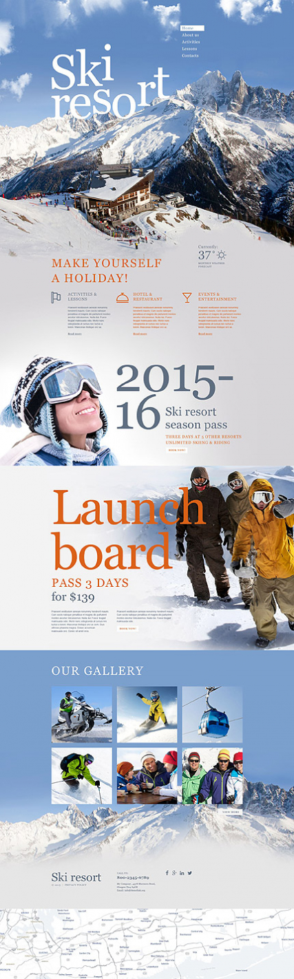 Skiing Muse Template