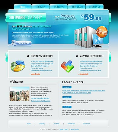 Software co. web template