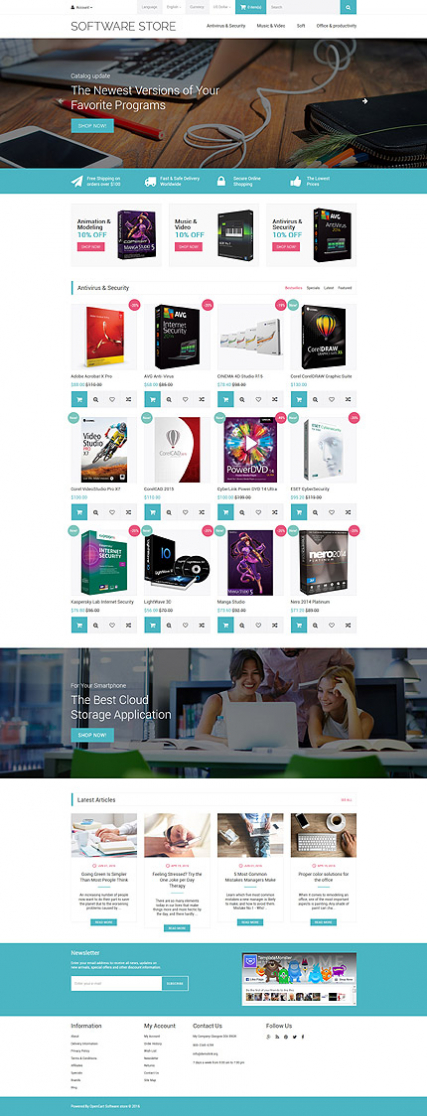 Software Store OpenCart Template for internet shop