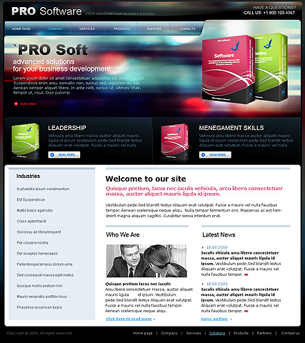 Software web template
