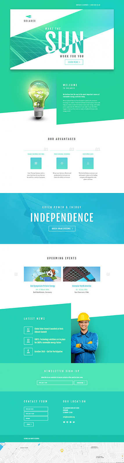 Solar Energy Responsive Landing Page Template