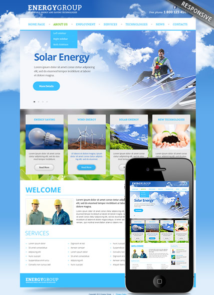 Solar energy v3.0 web template