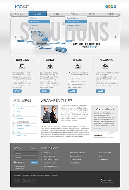 Solutions v2.5 web template