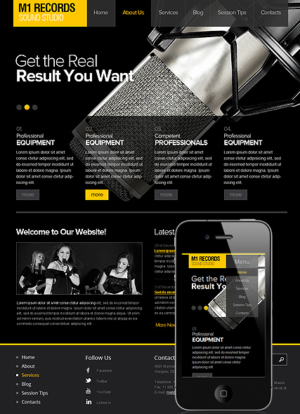 Sound Studio web template