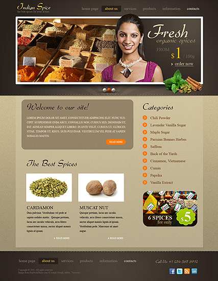 Spices web template