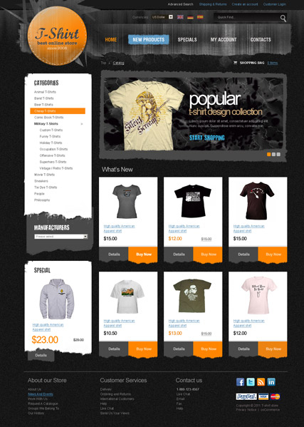 T-Shirt 2.3 ver web template