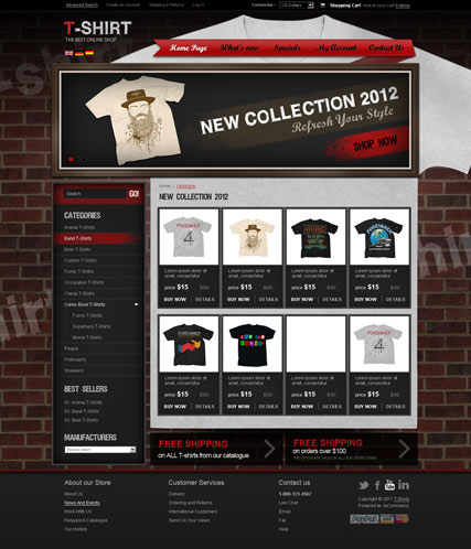 T-shirts v2.3 web template