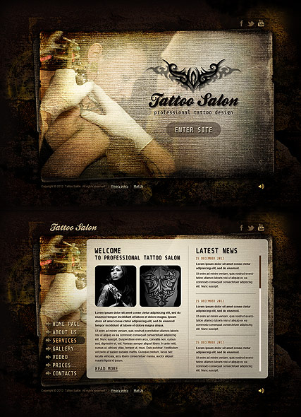 Tattoo Salon web template
