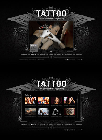 Tattoo web template