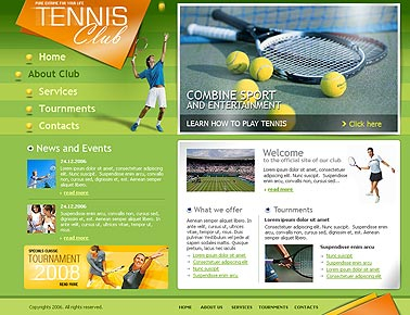 Tennis club web template