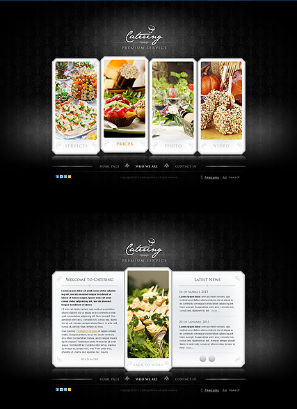 The Catering web template
