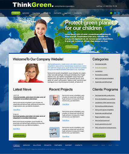 Think Green web template