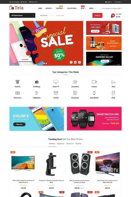 """Top eCommerce"" multypurpose OpenCart Template"