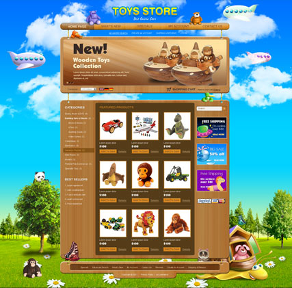 Toys store v2.3 web template