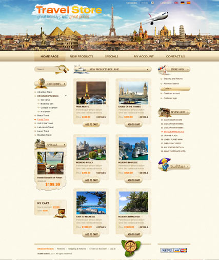 Travel Agency 2.3ver web template