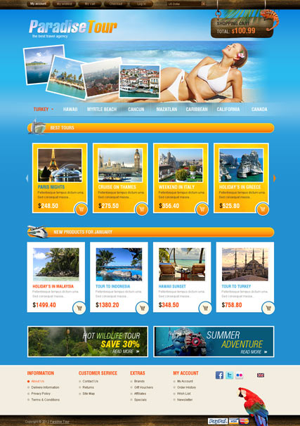 Travel Agency web template b6dca222466