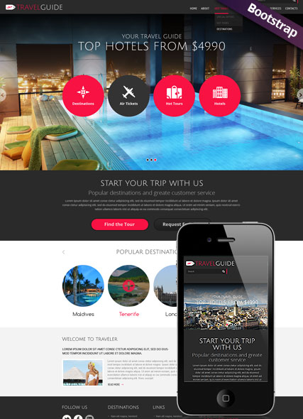 Travel Guide web template