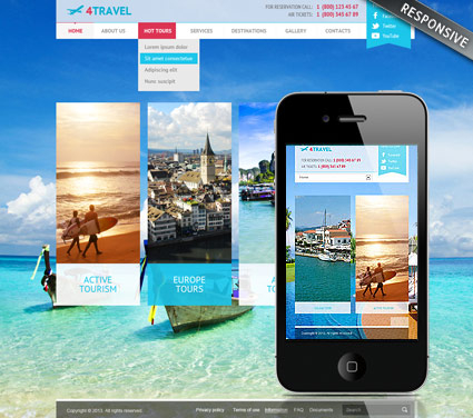 Travel v3 web template
