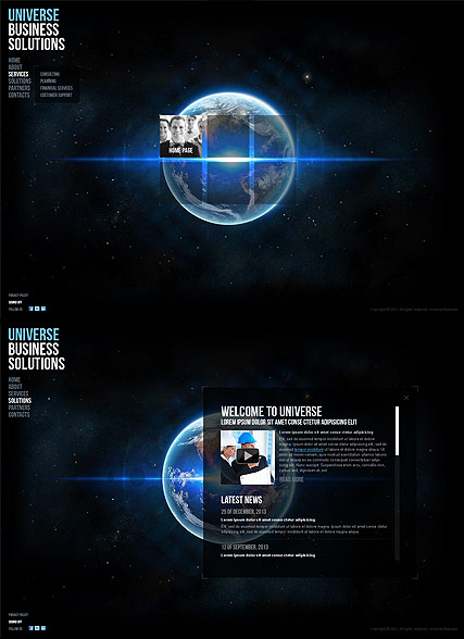Universe Business web template