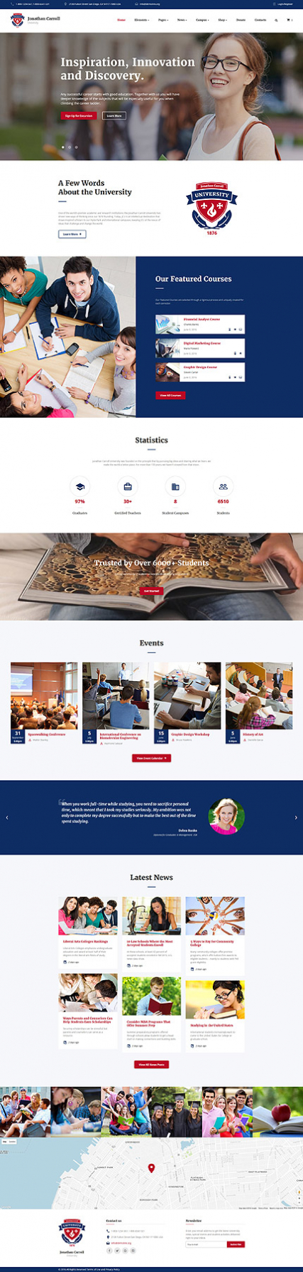 University Responsive Website Template