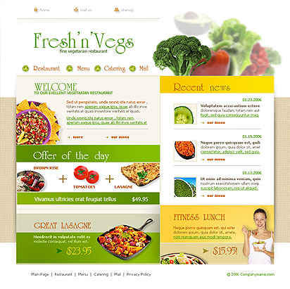 Vegetarian web template