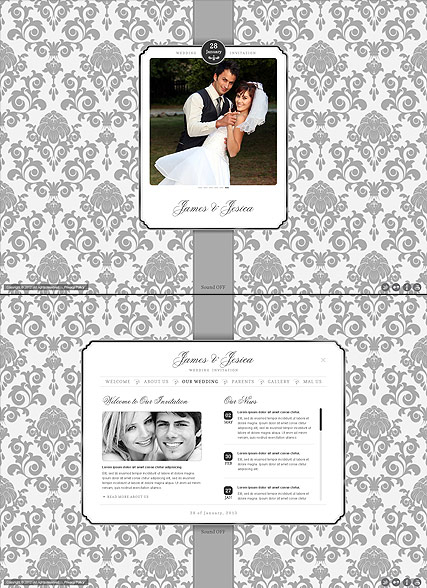 Wedding Invitation web template