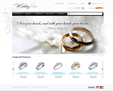 Wedding Store 2.3ver web template