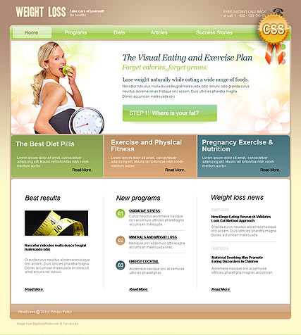 Weight Loss web template