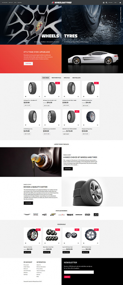 Wheels & Tyres OpenCart Template