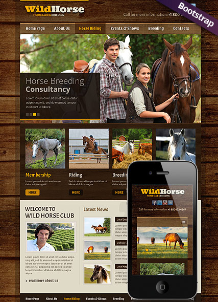 Wild Horse web template