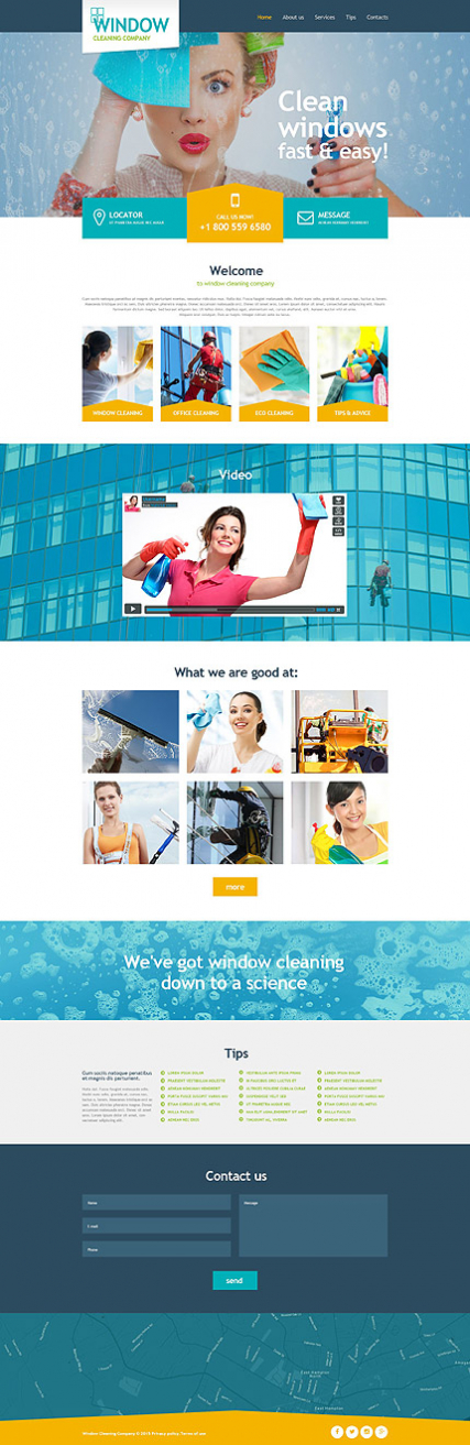 Window Cleaning Muse Template