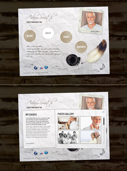 Writer Personal web template
