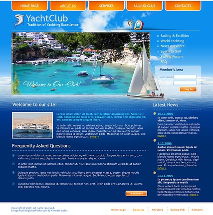 Yacht club web template