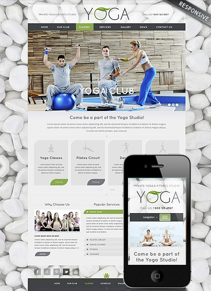 Yoga Club web template