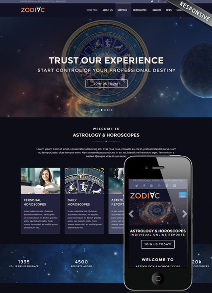 Zodiac Astrology v3.4 web template