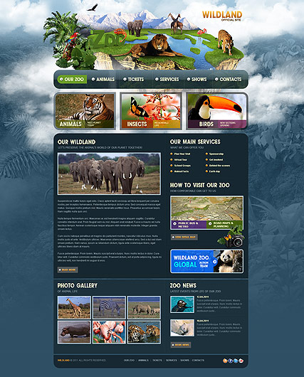 ZOO web template